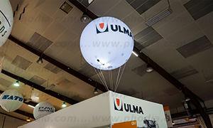 sphere helium ULMA de 2m option lumineux sur un salon CFIA