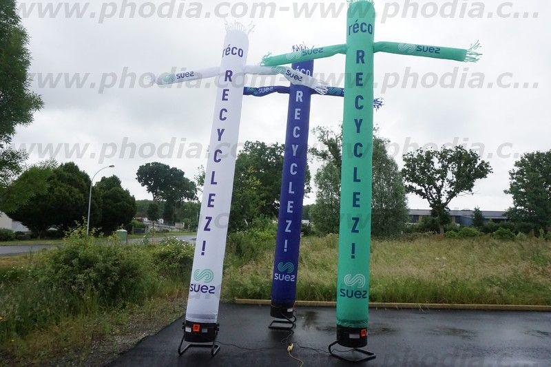 sky dancer 5m gdf suez pour faire la promotion du recyclage