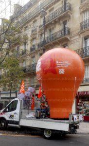 Montgolfière publicitaire Interco-CFDT Hauts-de-Seine 4m