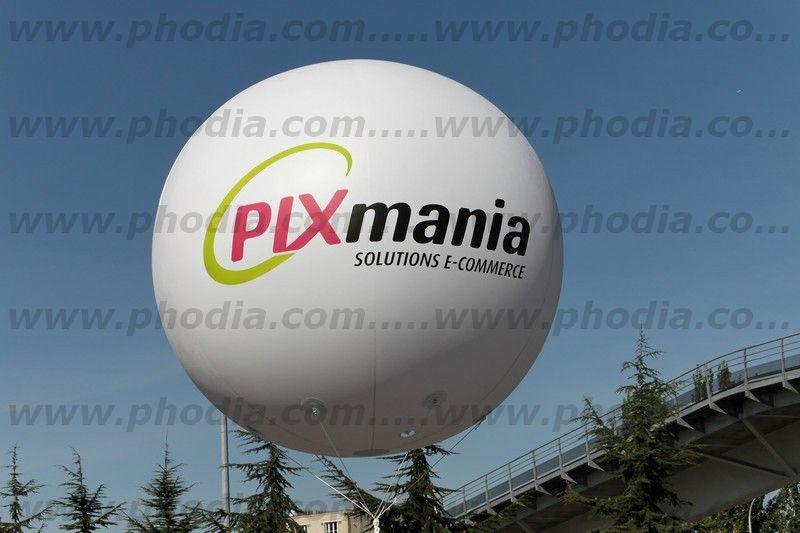 publicité gonflable personnalisée pixmania solution e-commerce de 2 m de diamètre