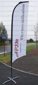 drapeau taille 3m