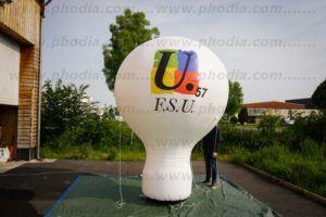 montgolfière pub FSU de 3m de haut à mettre sur un véhicule.