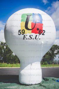 forme gonflable pour communication manifestation FSU : montgolfière à poser au sol 6 m