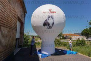 montgolfière publicitaire pour signaler un événement de la marque royal canin France