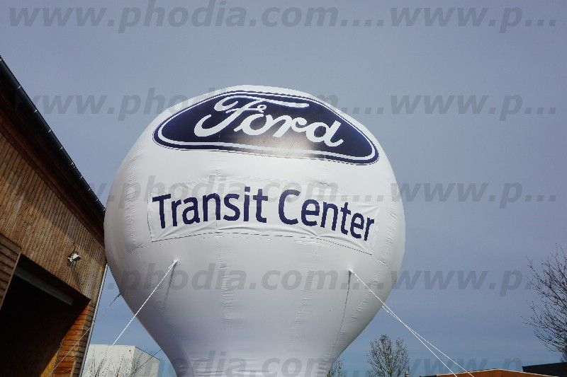 Montgolfiere 6m à l'air ford impression sur banderoles velcro transit center