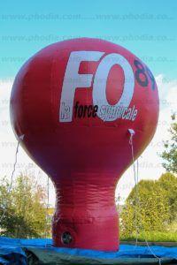 montgolifere publicitaire auto ventilée force ouvrière 89 5m : la force syndicale