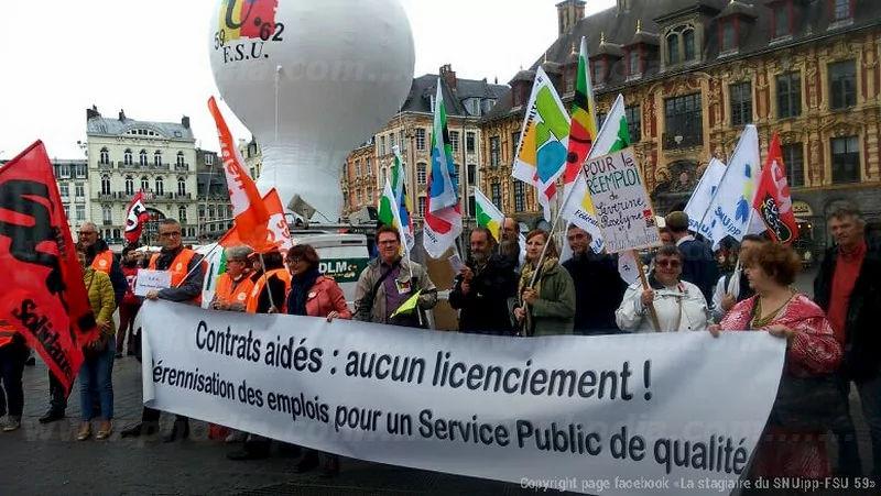 manifestation loi travail décembre 2017 à Lille