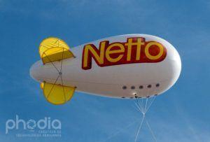 ballon geant gonflable à l'hélium de forme zeppelin netto l'extérieur de 6 m