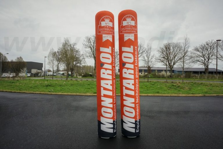 colonne publicitaire gonflable Montariol équipement technique pour les bateaux