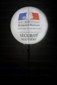 ballon sur trepied securite routiere