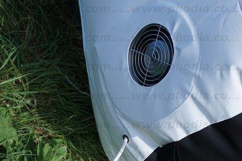 soufflerie arche gonflable ventilee intégrée dans le pied et silencieuse.