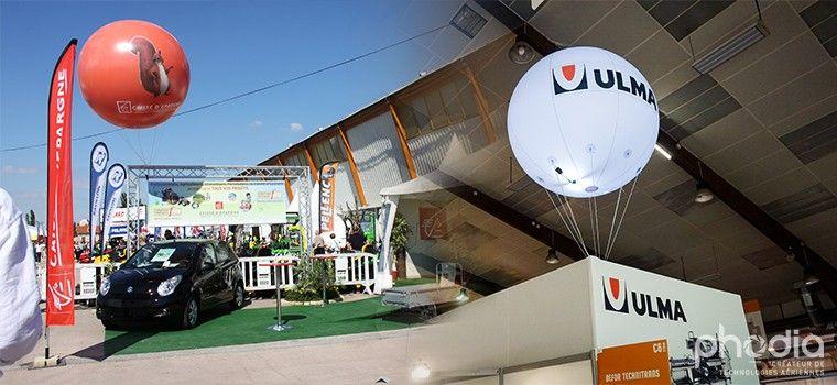 publicité gonflable à l'hélium, à l'air ou auto-ventilé