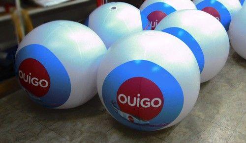 ballon sac dos pour l'opérateur de vente de billet de train ouigo