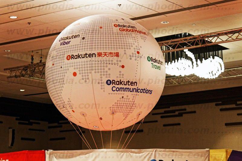 ballon publicitaire rotatif de 180cm