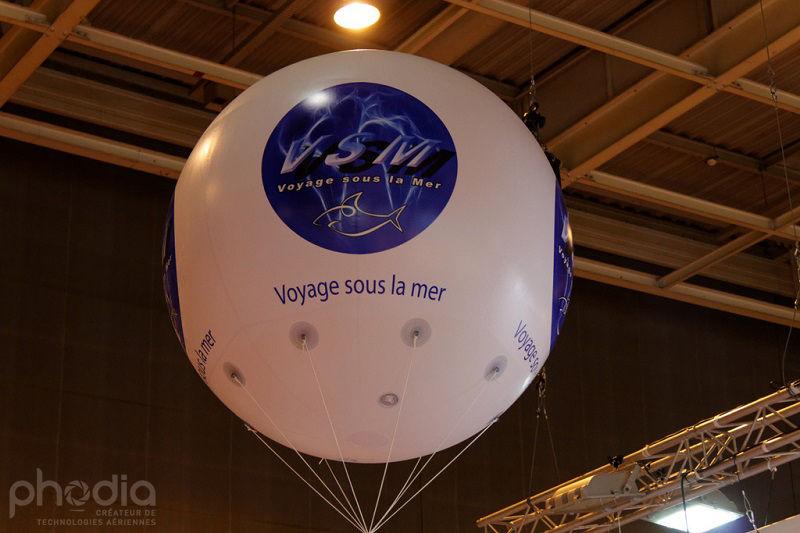 ballon marquages 4 faces voyage sous la mer, salon du tourisme