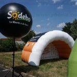 arche tente ballon sur trepied noir Sodebo