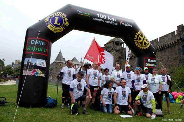 Arche course organisée par thalisport - 100 km marche nordique à fougères