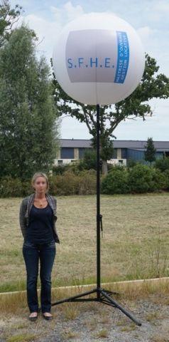 ballon sur trépied SFHE blanc 4m de haut