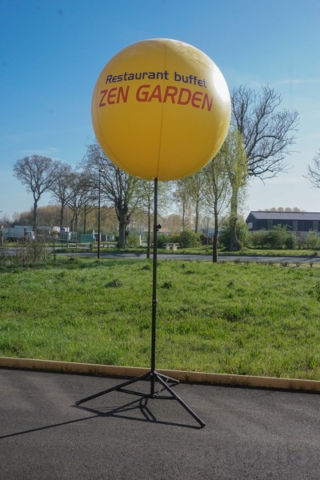 ballon jaune zen garden restaurant buffet ballon sur mât
