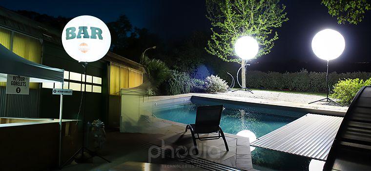 eclairage exterieur pour jardin ou festival
