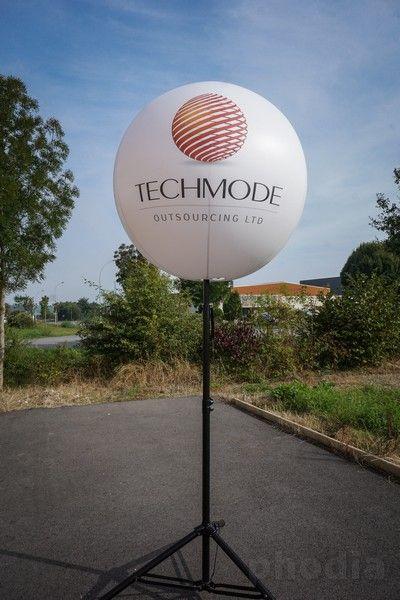 ballon 90 cm techmode sur pied pour extérieur marquages 2 faces