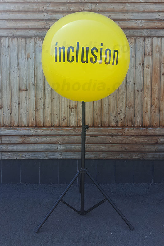 ballon trepied inclusion