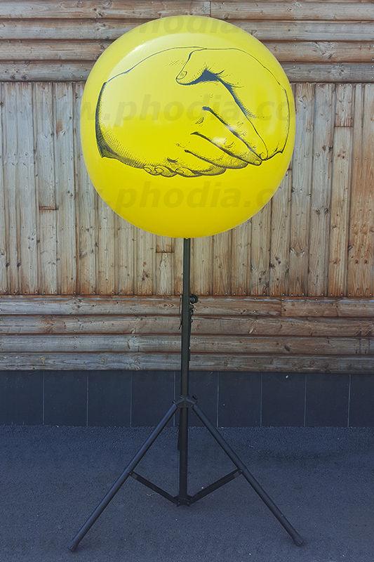 ballon trépied jaune polymago