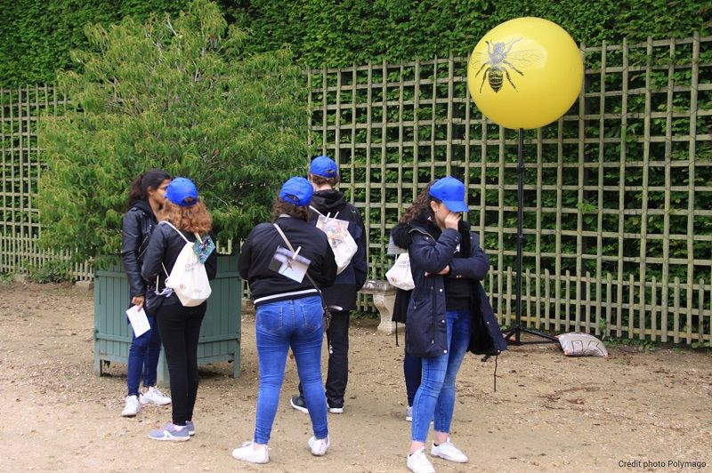 ballon trepied jaune Versailles