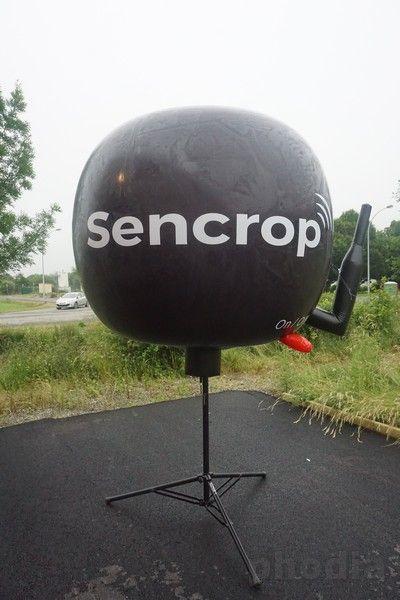 ballon sur trépied sur mesure avec antenne sencrop