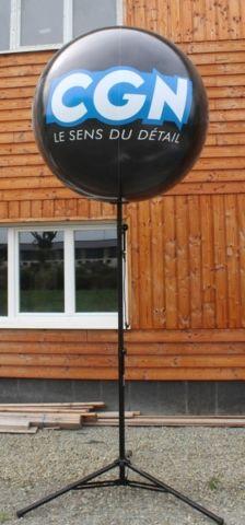 cgn le sens du détail ballon sur trépied de 80cm noir brillant