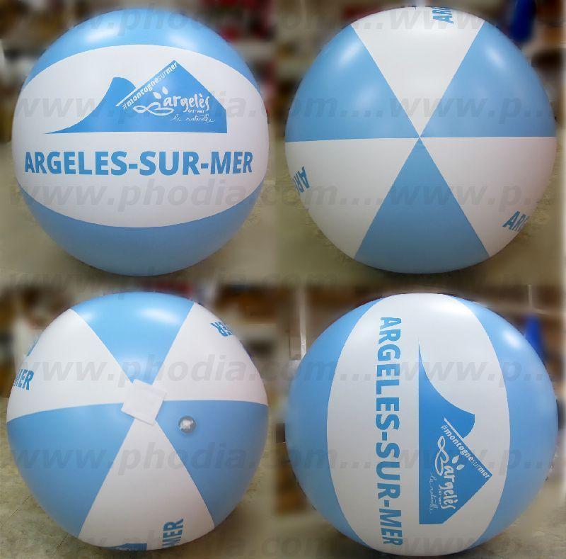 Ballon de foule de 1 m pour l'office du tourisme d'Argelès sur mer