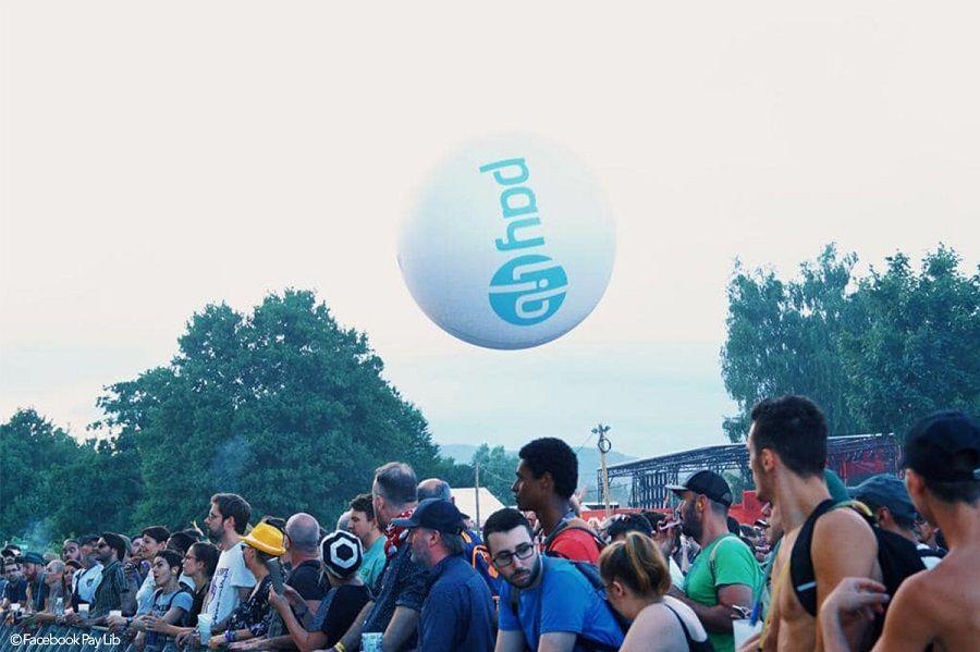 Ballon de foule aux eurockéennes de Belfort
