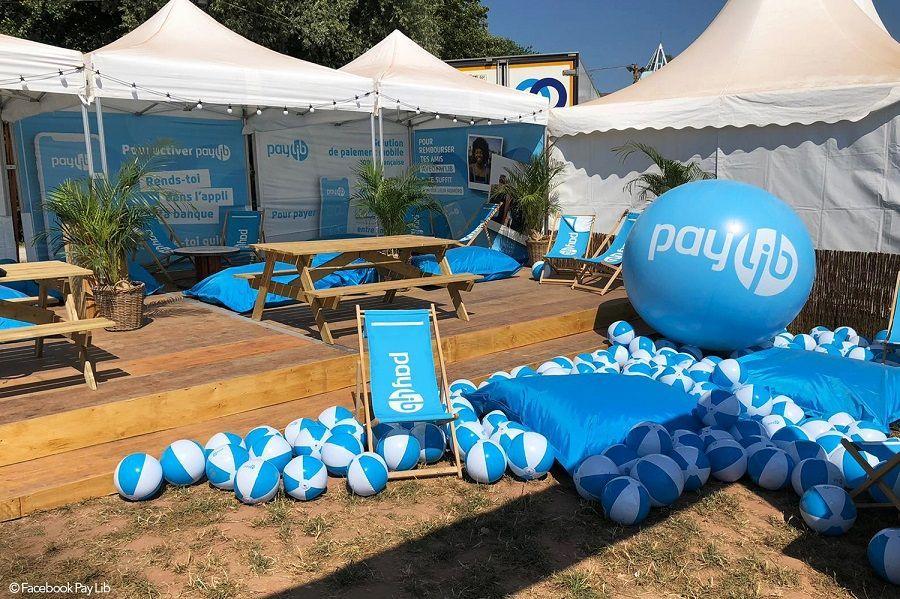 Ballon air stand Paylib - Festival les Eurockéennes de Belfort 2019