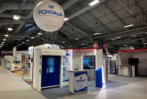Ballon hélium 2m pour le stand Portalp au salon Contaminexpo 2019 qui se déroulait à paris fin mars 2019
