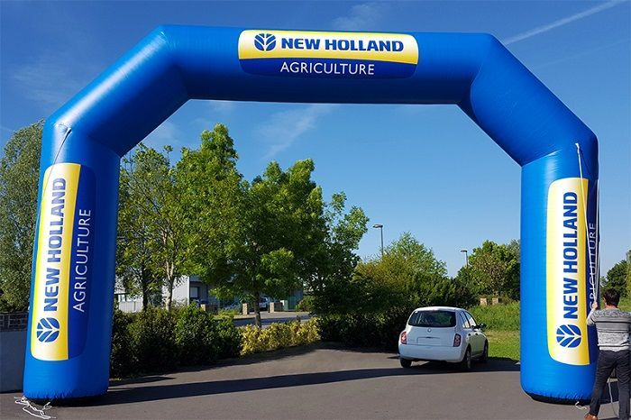 Arche gonflable à pans coupés new holland