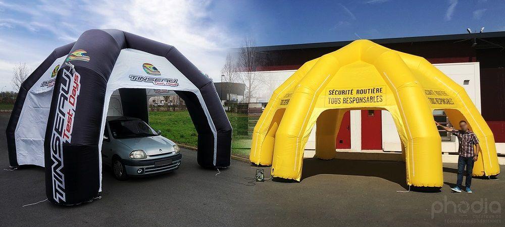 Une tente gonflable 6 pieds pour la sécurité routière de l'Oise