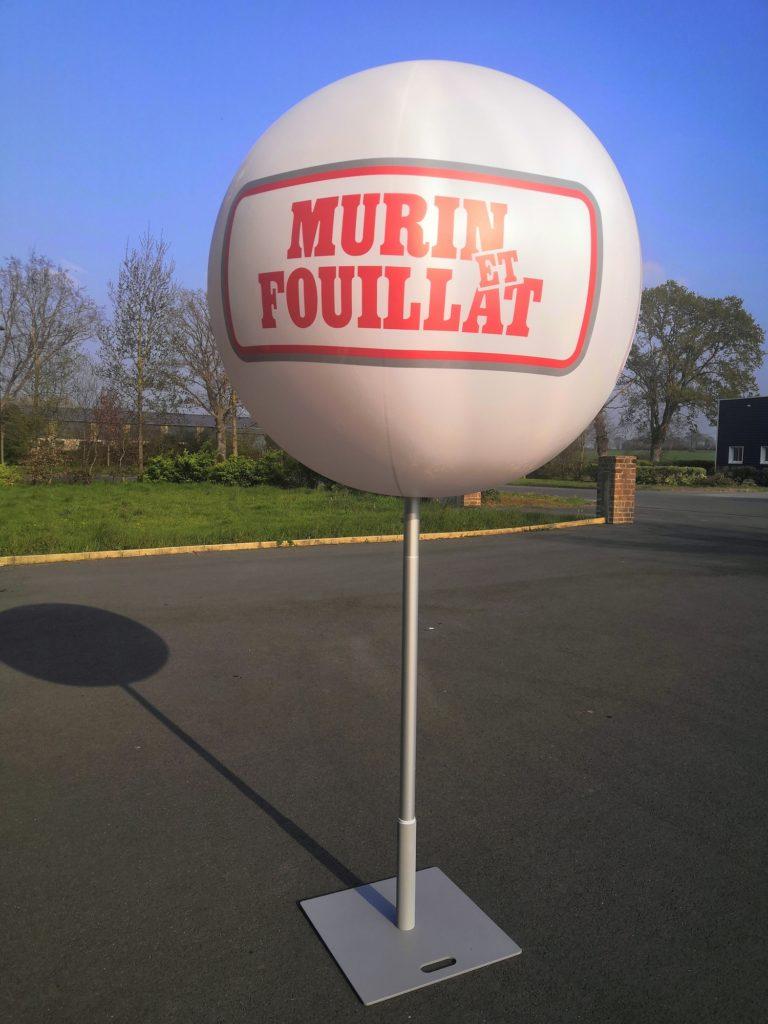 ballon sans hélium publicitaire trépied parasol