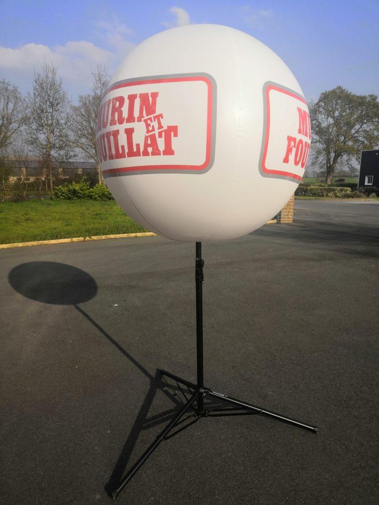 ballon sans hélium publicitaire trépied télescopique léger