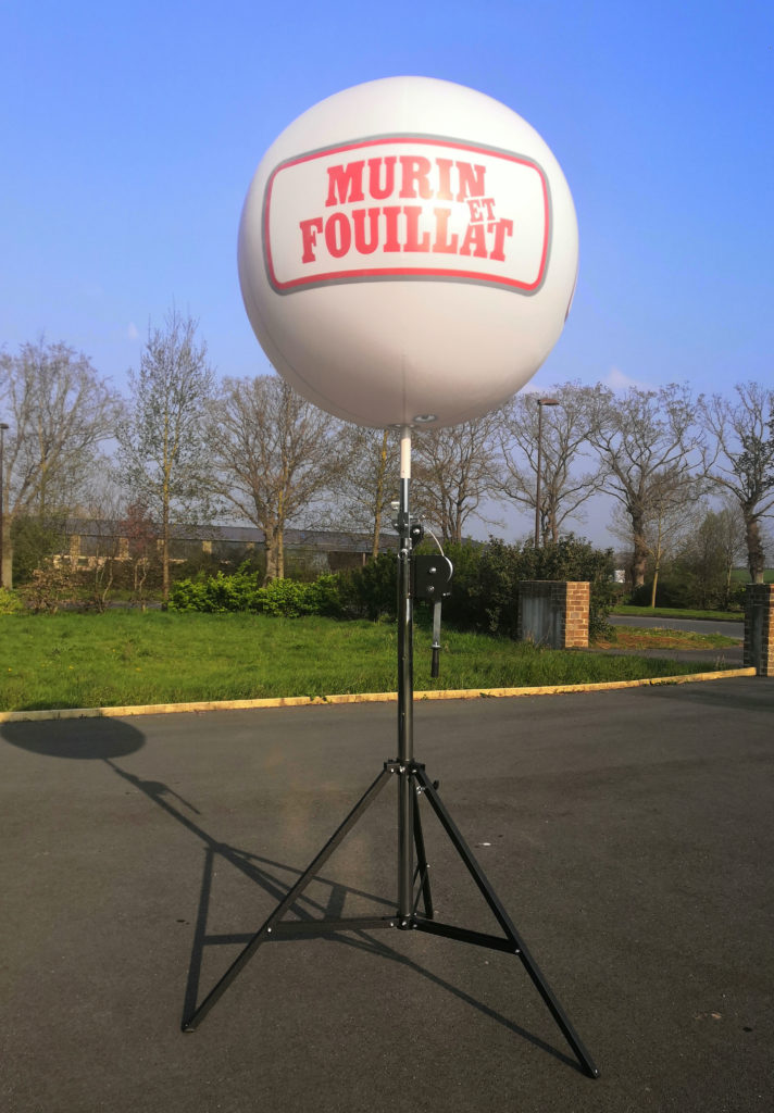 ballon sans hélium publicitaire trépied télescopique lourd