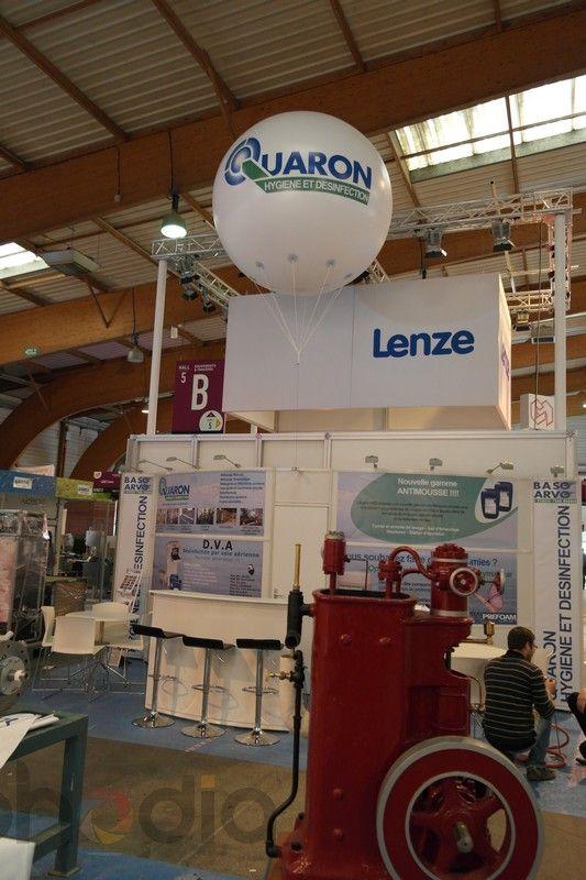 Ballon géant pour Quaron sur le salon du CFIA