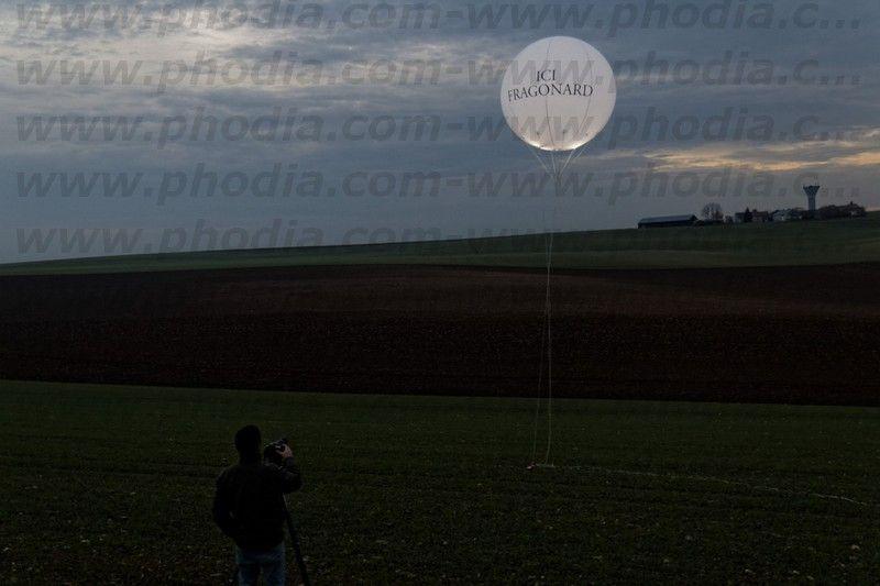 Ballon lumineux fragonad de nuit