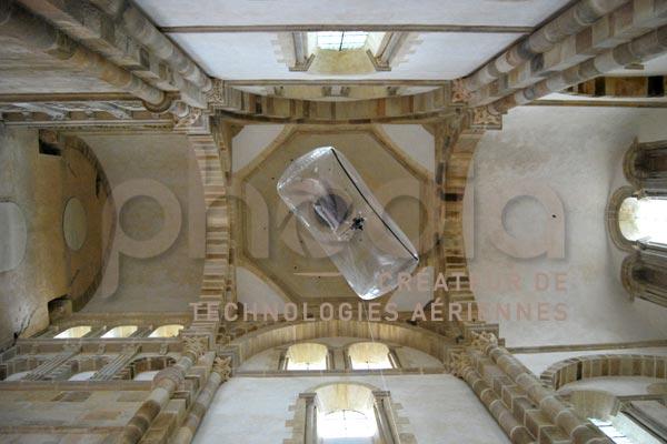 Photo aérienne dans une abbaye