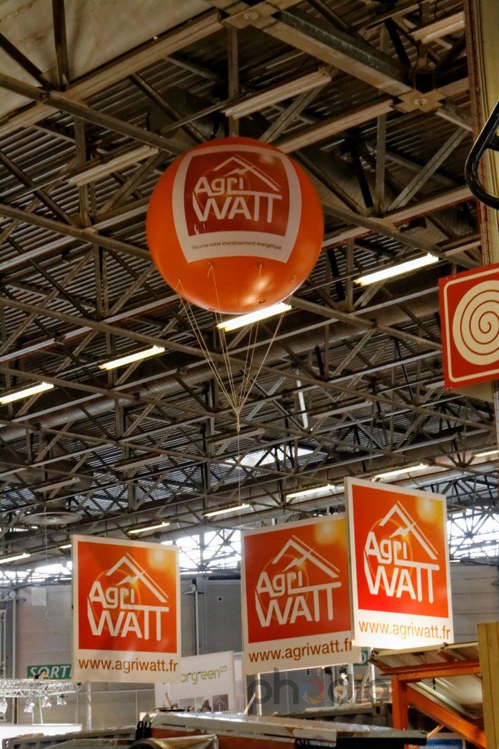 Publicité pour exposant Agriwatt - SIA 2013