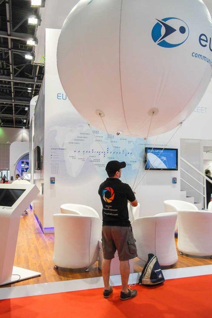 ballon gonflable publicitaire Eutelsat helium