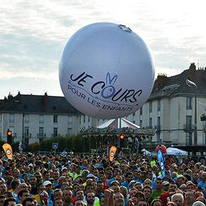 Ballon géant gonflable air : 120 cm en PVC