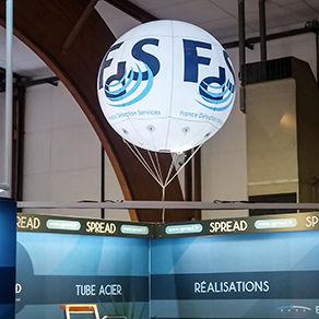 Ballon géant gonflable à l'hélium : 1,80m en PVC