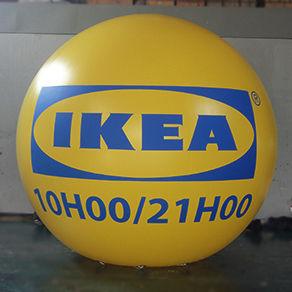 Ballon géant gonflable à l'hélium : 3,50m en PVC