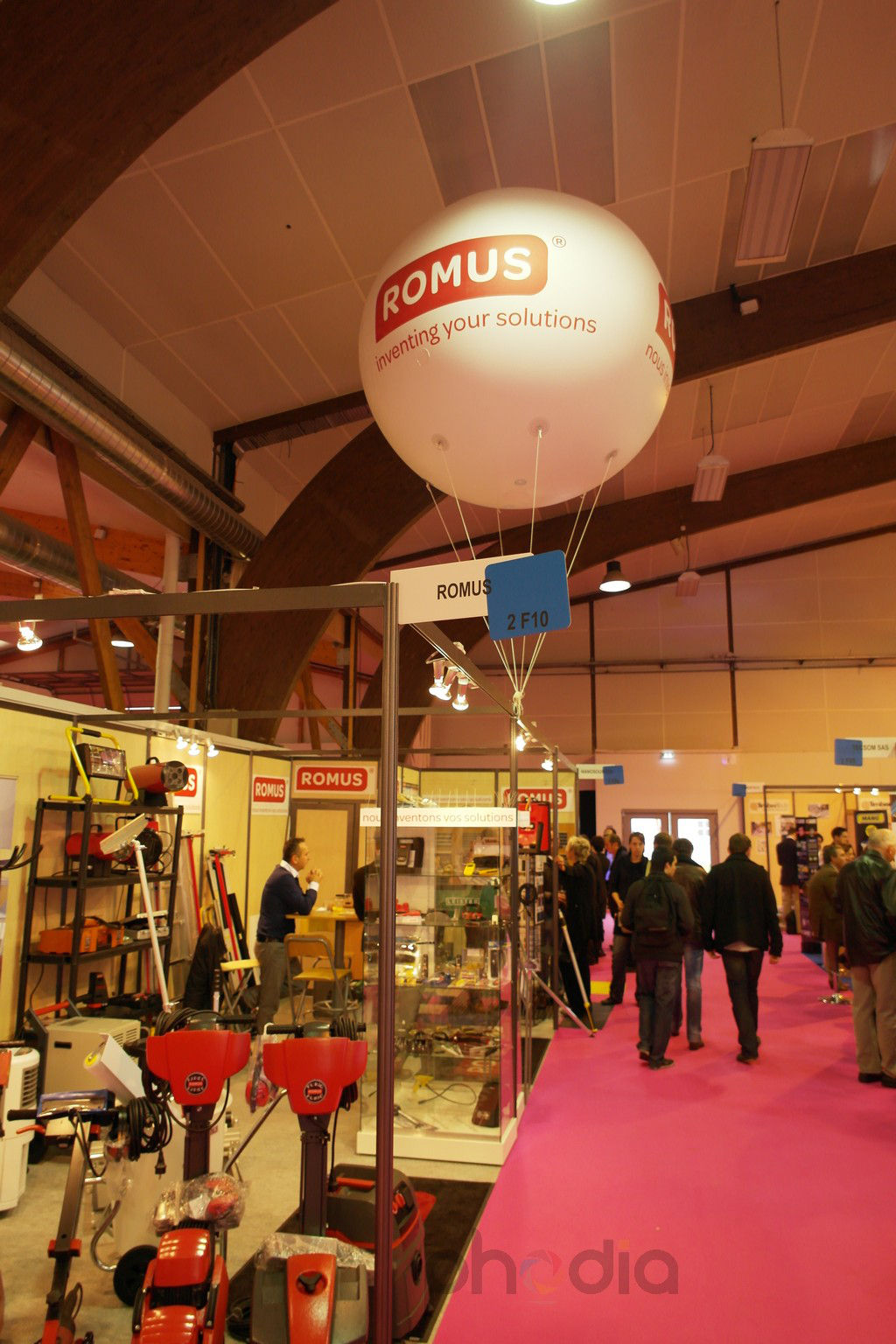 Ballon publicitaire pour ROMUS