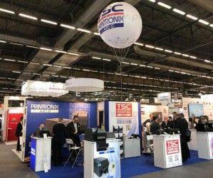 ballon hélium de 180cm Printronix SITL 2018 à Paris Villepinte