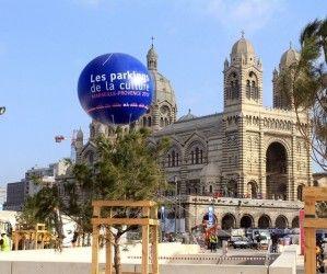 gros ballon publicitaire inauguration parking Marseille, les parkings de la culture